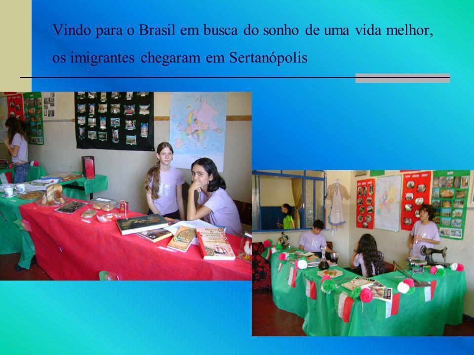 Vindo para o Brasil em busca do sonho de uma vida melhor, os imigrantes chegaram em Sertanópolis