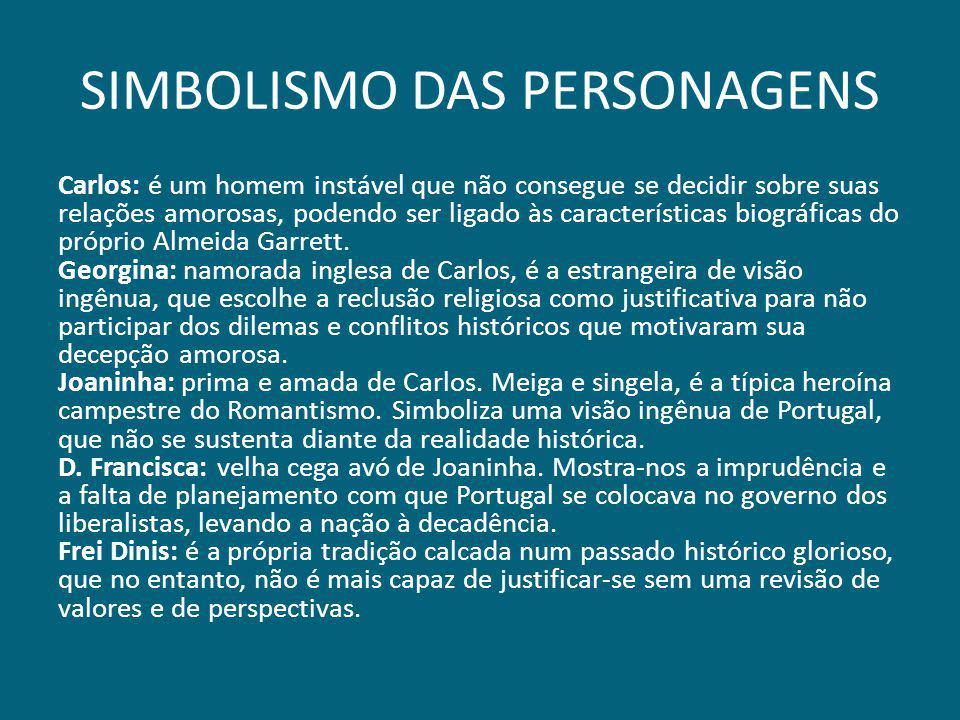 SIMBOLISMO DAS PERSONAGENS Carlos: é um homem instável que não consegue se decidir sobre suas relações amorosas, podendo ser ligado às características