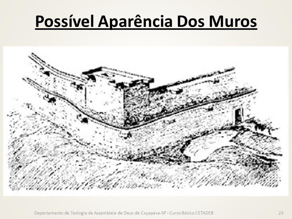 Possível Aparência Dos Muros Departamento de Teologia da Assembleia de Deus de Caçapava-SP - Curso Básico CETADEB23