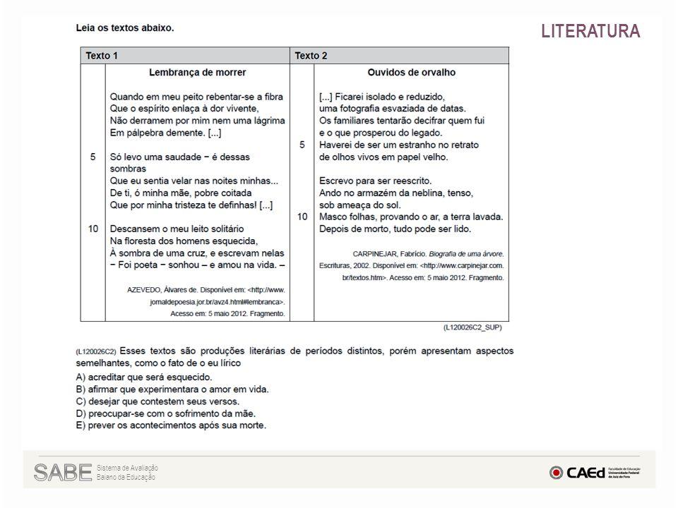 Sistema de Avaliação Baiano da Educação LITERATURA