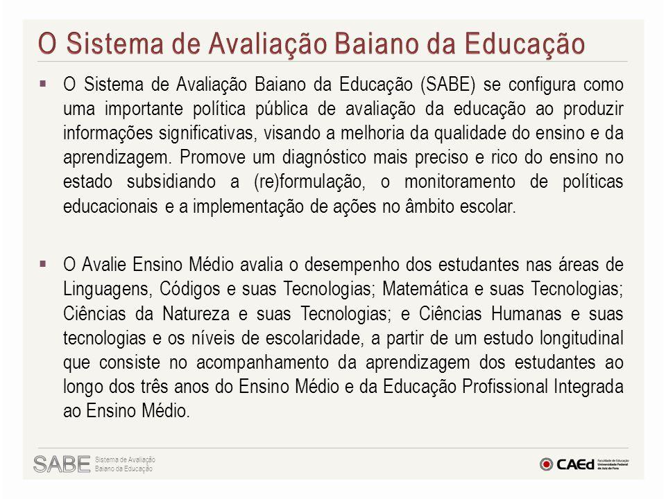  O Sistema de Avaliação Baiano da Educação (SABE) se configura como uma importante política pública de avaliação da educação ao produzir informações