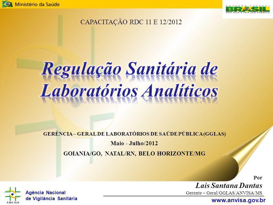 Agência Nacional de Vigilância Sanitária www.anvisa.gov.br Por Lais Santana Dantas Gerente – Geral/GGLAS/DIMCB/ANVISA/MS AGENDA: Importância da Regulação Desafios para a Regulação de laboratórios Normas Sanitárias Aplicadas a Laboratórios Analíticos RDC 11/2012 RDC 12/2012 Regulação de Laboratórios Analíticos