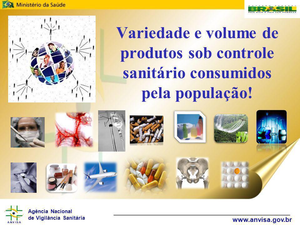 Agência Nacional de Vigilância Sanitária www.anvisa.gov.br Variedade e volume de produtos sob controle sanitário consumidos pela população!