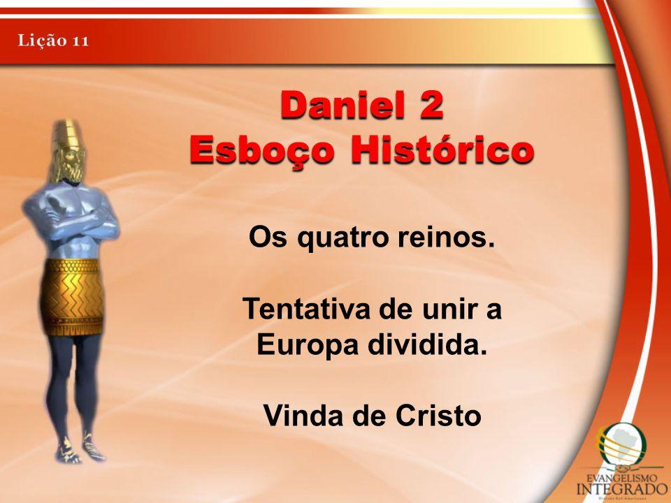 Daniel 7 Esboço Histórico Os quatro reinos.A Europa dividida.