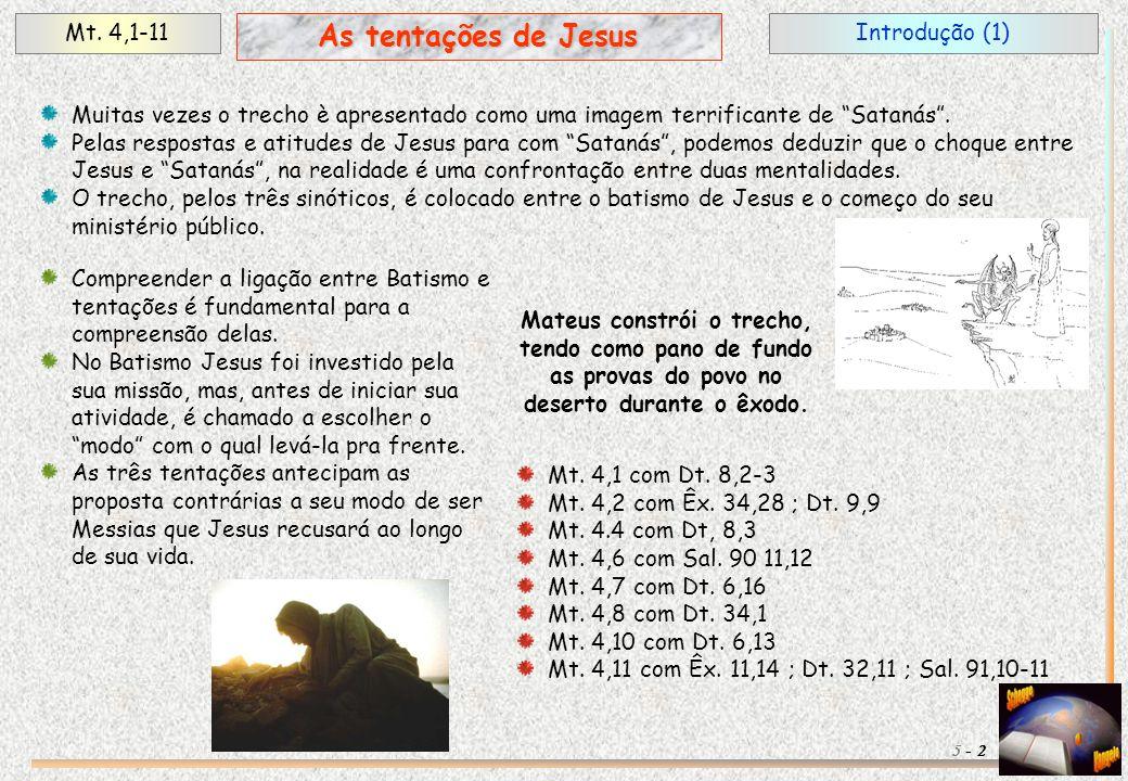 """Introdução (1)Mt. 4,1-11 2 As tentações de Jesus 5 - Muitas vezes o trecho è apresentado como uma imagem terrificante de """"Satanás"""". Pelas respostas e"""
