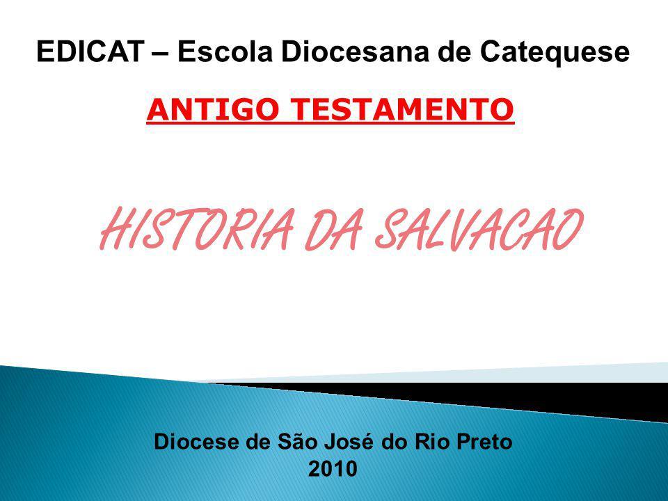 EDICAT – Escola Diocesana de Catequese ANTIGO TESTAMENTO Diocese de São José do Rio Preto 2010 HISTORIA DA SALVACAO