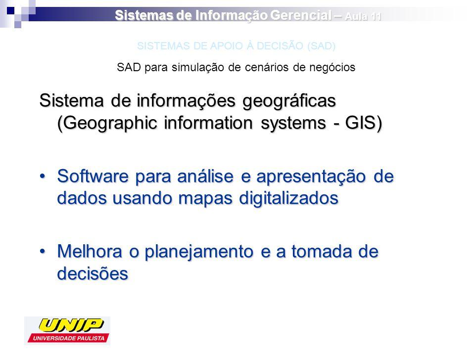 Sistema de informações geográficas (Geographic information systems - GIS) Software para análise e apresentação de dados usando mapas digitalizadosSoft