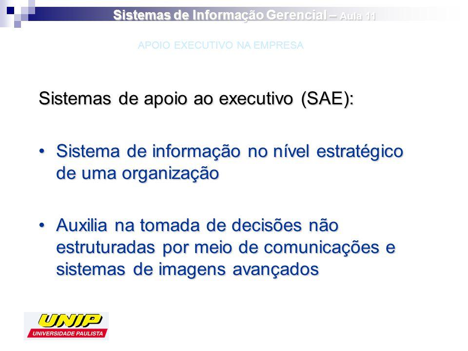 Sistemas de apoio ao executivo (SAE): Sistema de informação no nível estratégico de uma organizaçãoSistema de informação no nível estratégico de uma o
