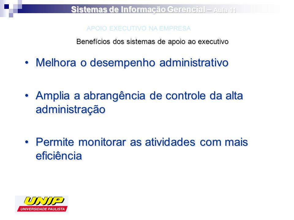 Melhora o desempenho administrativoMelhora o desempenho administrativo Amplia a abrangência de controle da alta administraçãoAmplia a abrangência de c