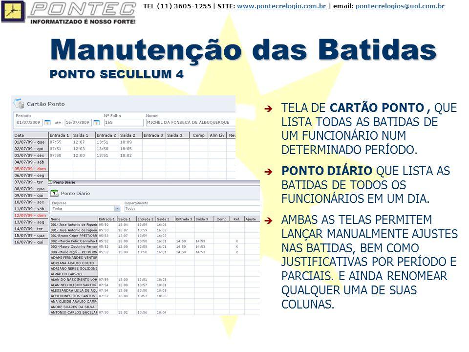 Cálculos PONTO SECULLUM 4  OPÇÃO PARA IMPRIMIR CARTÃO PONTO PERSONALIZADO (SELECIONANDO QUAIS CAMPOS IMPRIMIR).