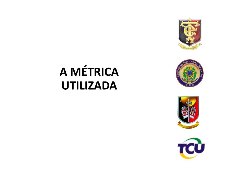 A MÉTRICA UTILIZADA