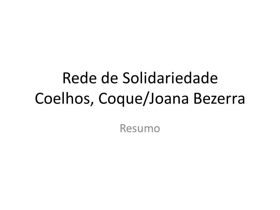 Rede de Solidariedade Coelhos, Coque/Joana Bezerra Resumo