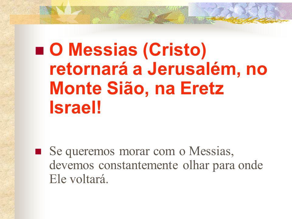 Por que os cristãos devem estar olhando o tempo todo para Israel? Porque o Messias não virá para os montes de Bagdá, ou para a cordilheira dos Andes,