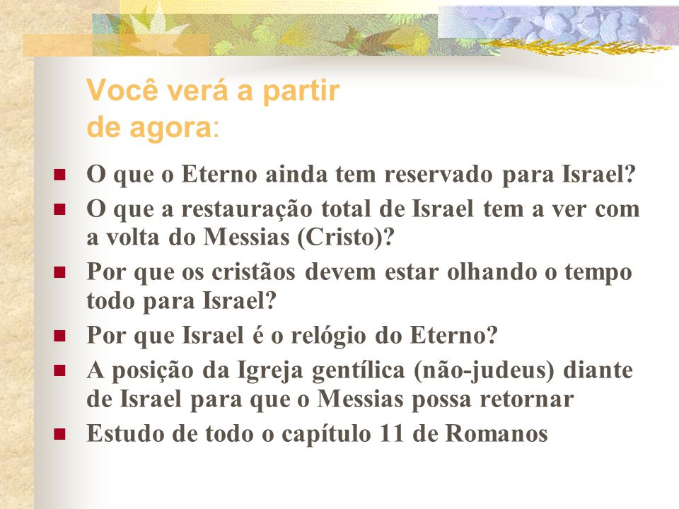 ISRAEL O povo do Eterno 2ª Parte