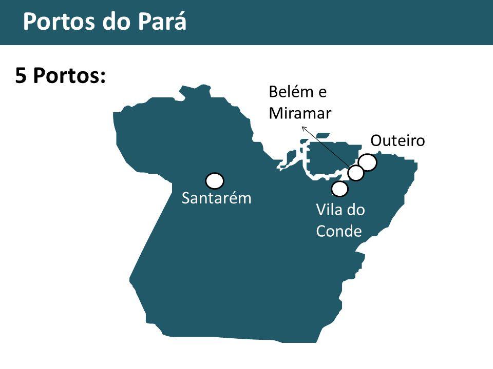 Portos do Pará AC MT RO MG MA TO GO DF RR AP 5 Portos: Santarém Vila do Conde Belém e Miramar Outeiro