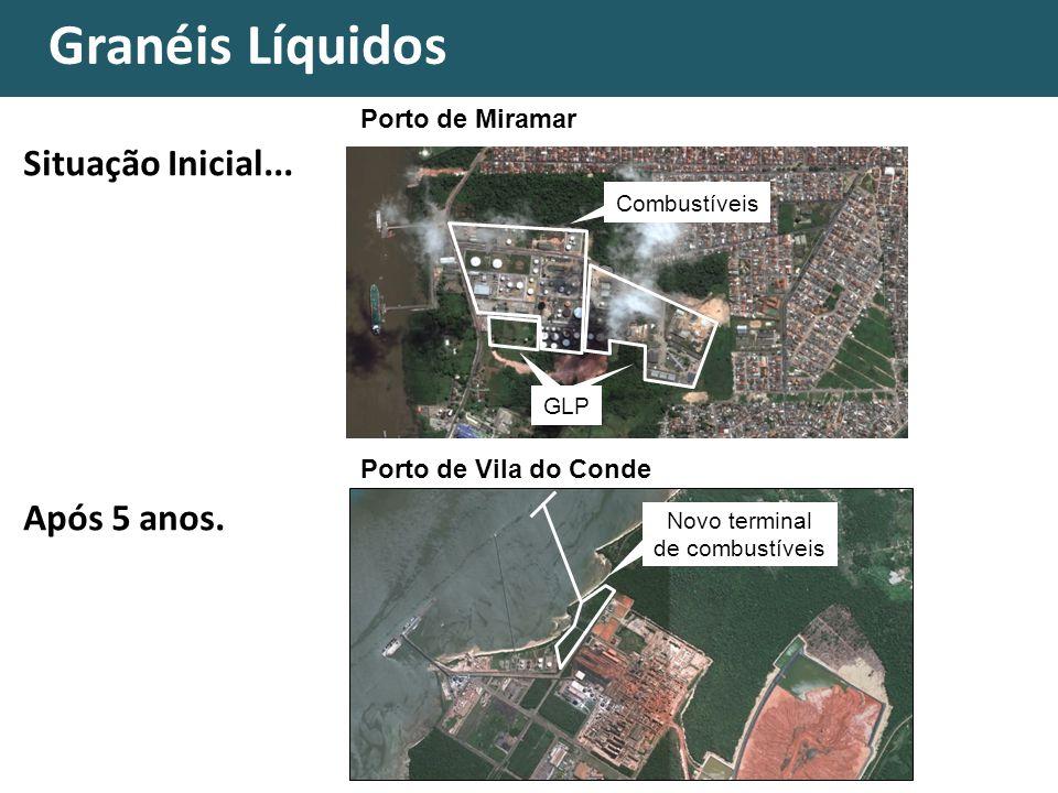 Granéis Líquidos Novo terminal de combustíveis Porto de Vila do Conde Porto de Miramar Situação Inicial...