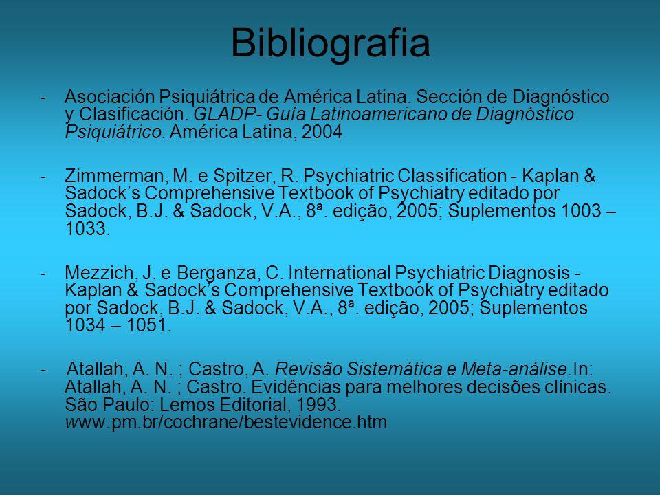 Bibliografia -Asociación Psiquiátrica de América Latina.