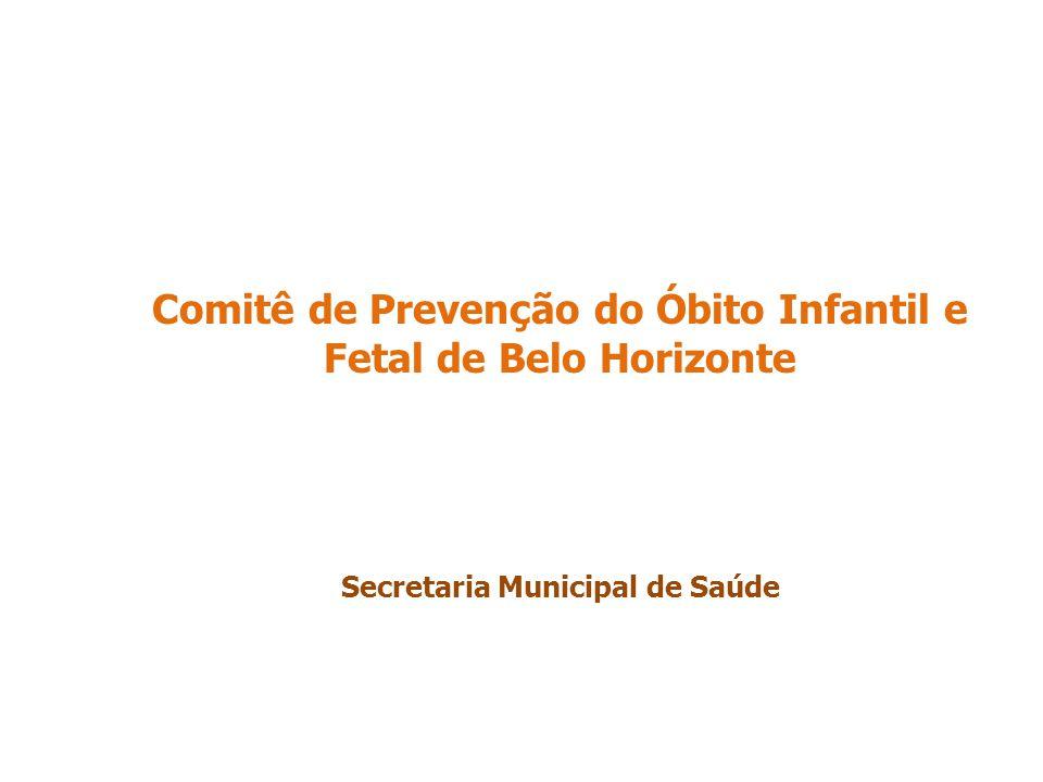 Comitê de Prevenção do Óbito Infantil e Fetal de Belo Horizonte Secretaria Municipal de Saúde