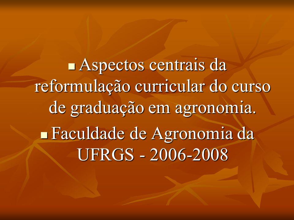 Qualificação para trabalhar com projetos curriculares 1- Representar seu departamento, mas privilegiar a compreensão da agronomia como um todo, 1- Representar seu departamento, mas privilegiar a compreensão da agronomia como um todo, 2- ter interesse pela discussão sobre a natureza e o futuro da atividade agronômica no Brasil, 2- ter interesse pela discussão sobre a natureza e o futuro da atividade agronômica no Brasil, 3- ter interesse pelo ensino no nível de graduação e pela formação de profissionais das Ciências Agrárias 3- ter interesse pelo ensino no nível de graduação e pela formação de profissionais das Ciências Agrárias 4- ter capacidade de dialogar com pontos de vista contrários, de compreender argumentações opostas e de buscar entendimentos privilegiando o todo sobre a parte.