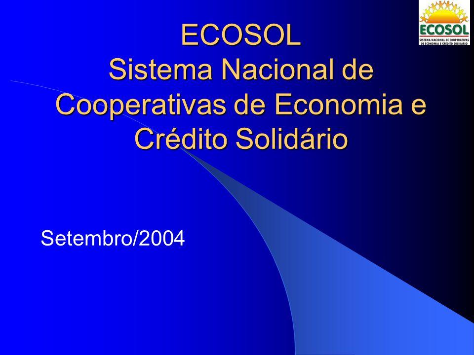 ECOSOL Sistema Nacional de Cooperativas de Economia e Crédito Solidário Setembro/2004