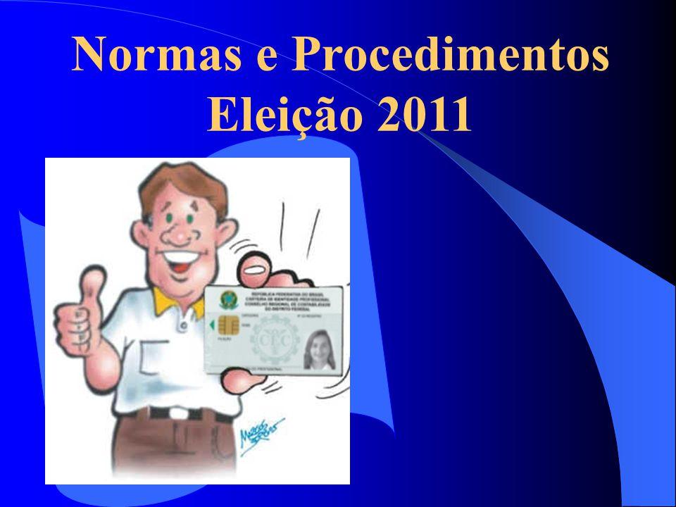 Normas e Procedimentos Eleição 2011