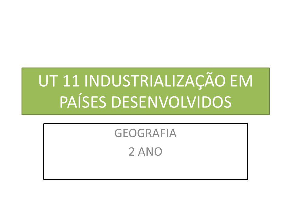 UT 11 INDUSTRIALIZAÇÃO EM PAÍSES DESENVOLVIDOS GEOGRAFIA 2 ANO