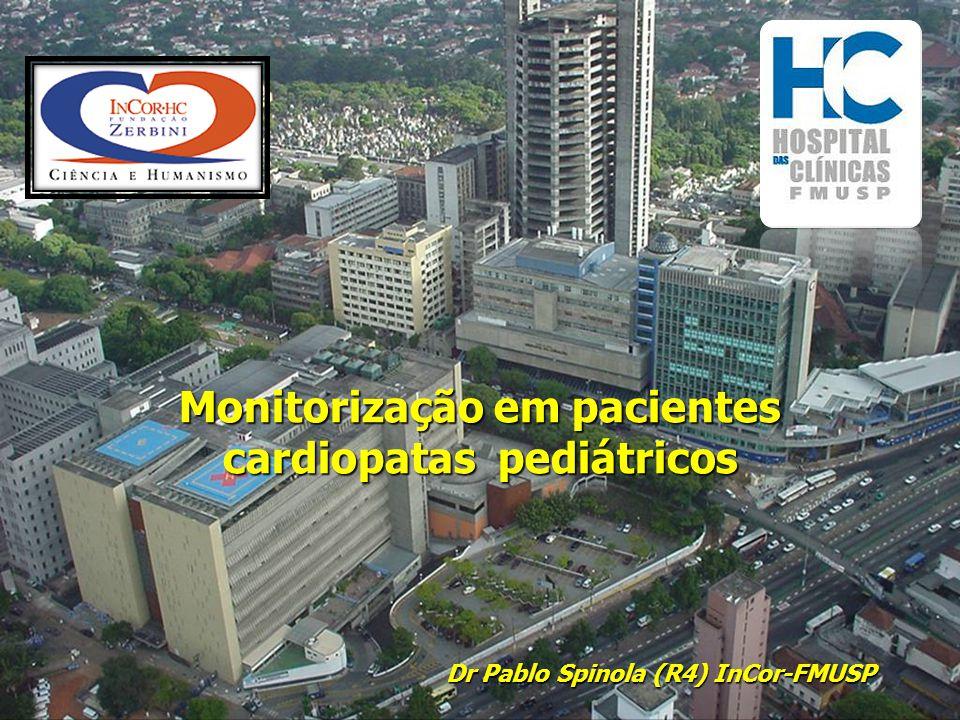 Parâmetros  Monitorização da pressão em artéria pulmonar - Relevância - Indicações - Sitio de punção - Catéter - Complicações Pediatric cardiac anesthesia, 4º ed, cap 11, 2005 Carol L.