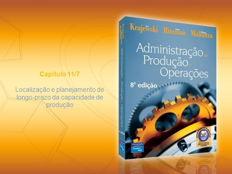 Capítulo 11/7 Localização e planejamento de longo-prazo da capacidade de produção