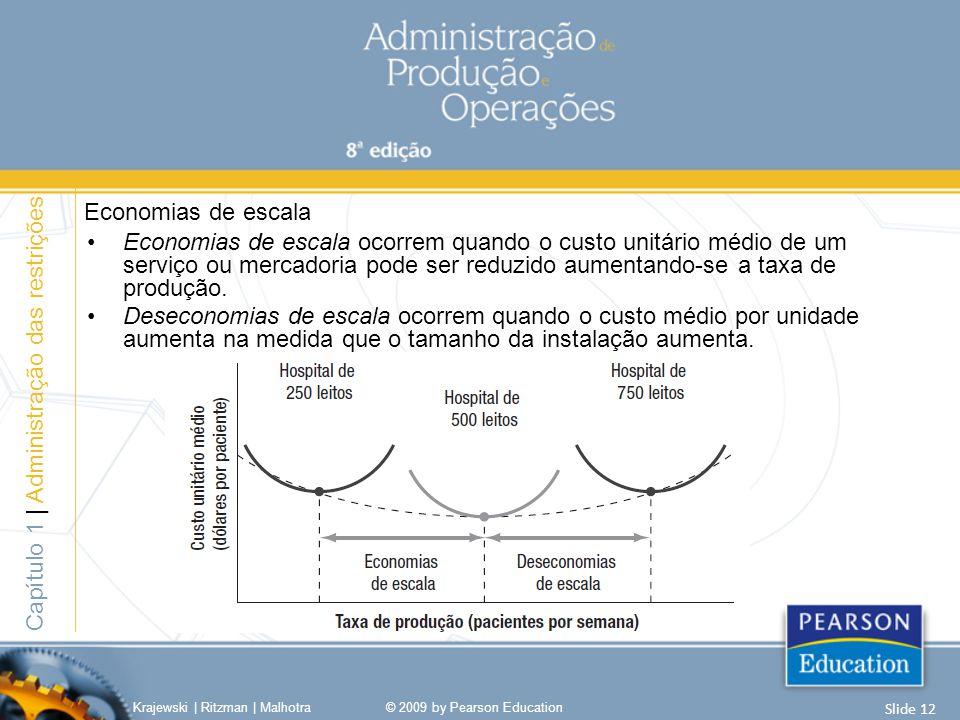 Economias de escala ocorrem quando o custo unitário médio de um serviço ou mercadoria pode ser reduzido aumentando-se a taxa de produção. Deseconomias