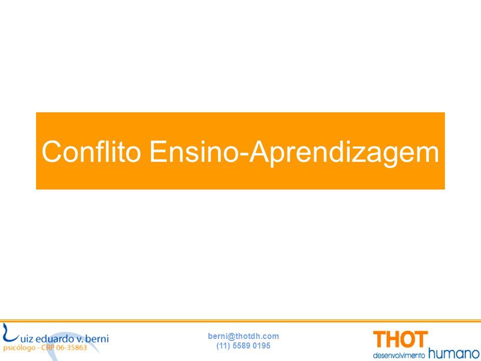 berni@thotdh.com (11) 5589 0195 Conflito Ensino-Aprendizagem