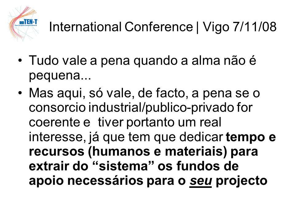 International Conference | Vigo 7/11/08 Tudo vale a pena quando a alma não é pequena...