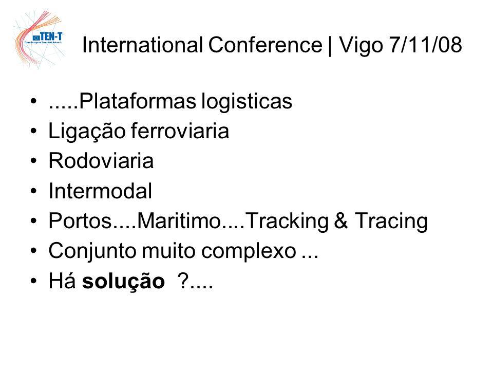 .....Plataformas logisticas Ligação ferroviaria Rodoviaria Intermodal Portos....Maritimo....Tracking & Tracing Conjunto muito complexo...