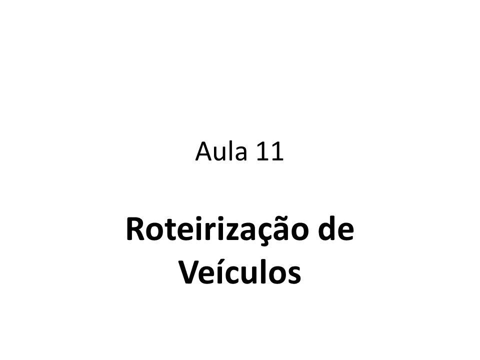 Roteirização Com Restrições A Resolução da maioria dos problemas de distribuição física fica condicionada aos limites de tempo ou de capacidade do veículo.