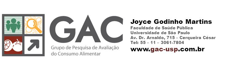Joyce Godinho Martins Faculdade de Saúde Pública Universidade de São Paulo Av.