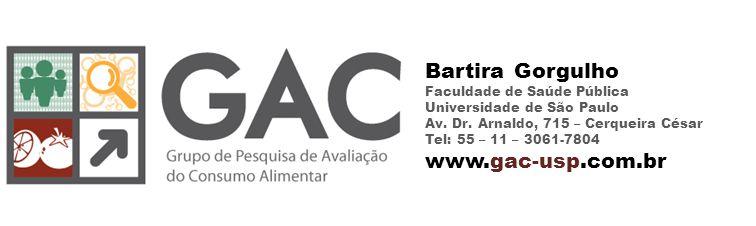 Bartira Gorgulho Faculdade de Saúde Pública Universidade de São Paulo Av.