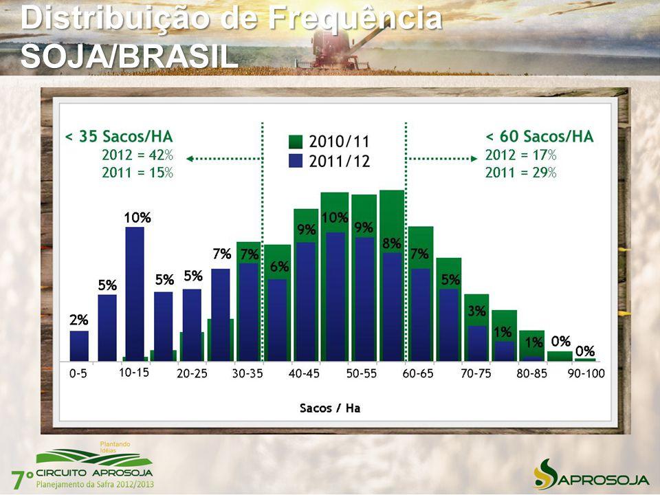 Distribuição de Frequência SOJA/BRASIL