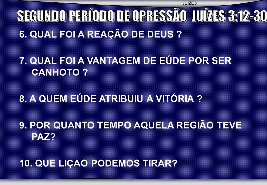JUÍZES SEBAC - SEMINÁRIO BATISTA DA CHAPADA 6.QUAL FOI A REAÇÃO DE DEUS .