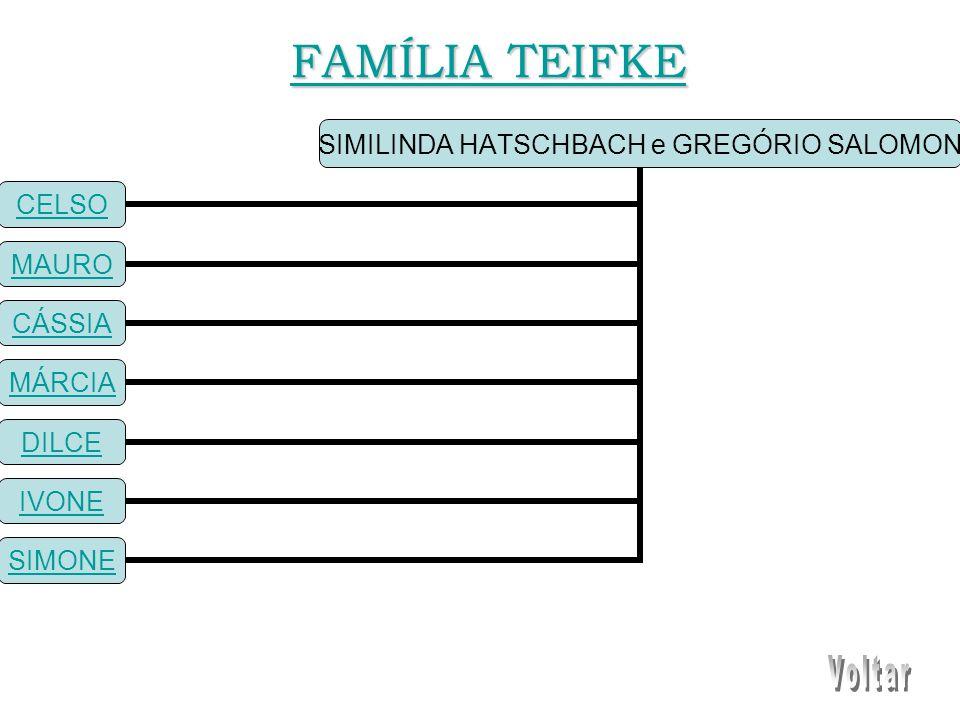 SIMILINDA HATSCHBACH e GREGÓRIO SALOMON CELSO MAURO CÁSSIA MÁRCIA DILCE IVONE SIMONE FAMÍLIA TEIFKE FAMÍLIA TEIFKE