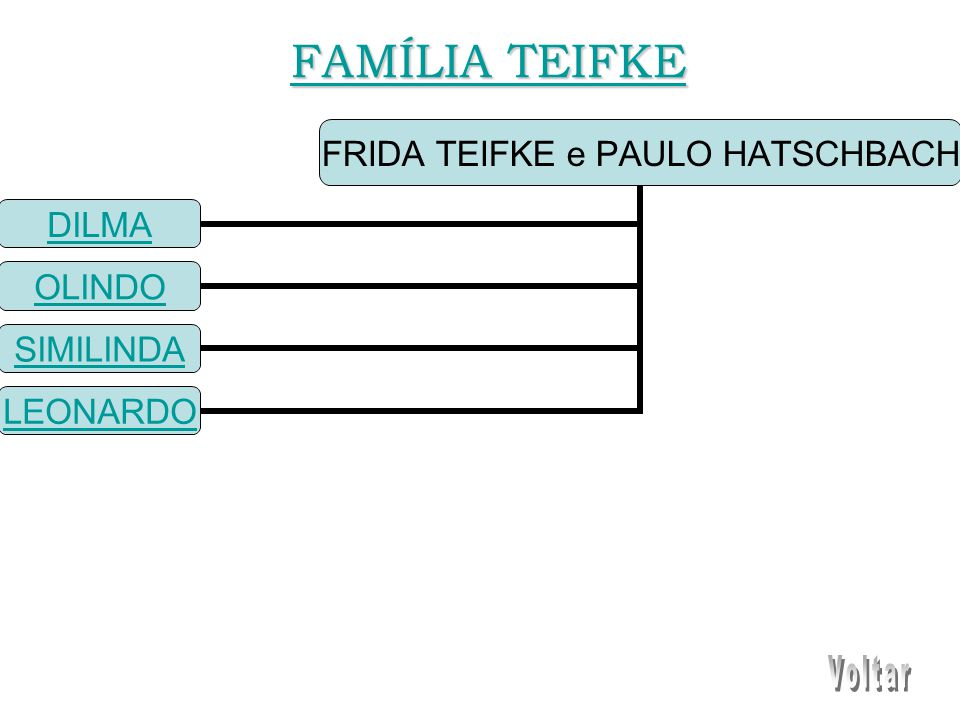 FRIDA TEIFKE e PAULO HATSCHBACH DILMA OLINDO SIMILINDA LEONARDO FAMÍLIA TEIFKE FAMÍLIA TEIFKE