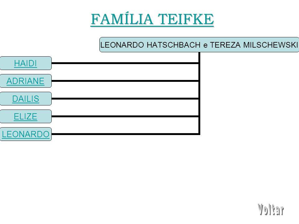LEONARDO HATSCHBACH e TEREZA MILSCHEWSKI HAIDI ADRIANE DAILIS ELIZE LEONARDO FAMÍLIA TEIFKE FAMÍLIA TEIFKE