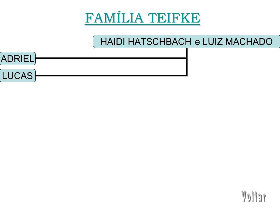 HAIDI HATSCHBACH e LUIZ MACHADO ADRIEL LUCAS FAMÍLIA TEIFKE FAMÍLIA TEIFKE