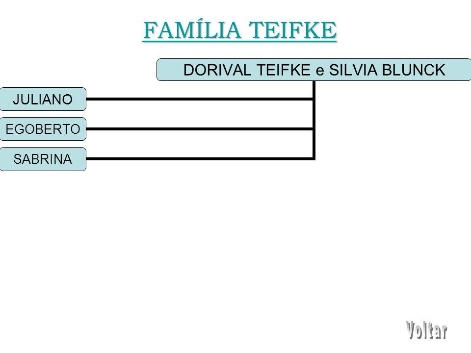 DORIVAL TEIFKE e SILVIA BLUNCK JULIANO EGOBERTO SABRINA FAMÍLIA TEIFKE FAMÍLIA TEIFKE
