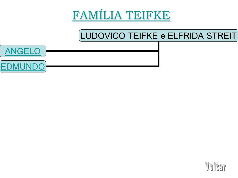 LUDOVICO TEIFKE e ELFRIDA STREIT ANGELO EDMUNDO FAMÍLIA TEIFKE FAMÍLIA TEIFKE