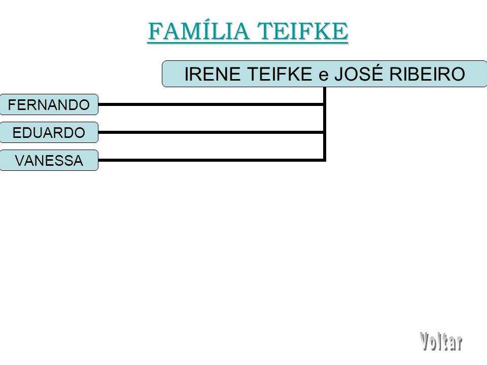 IRENE TEIFKE e JOSÉ RIBEIRO FERNANDO EDUARDO VANESSA FAMÍLIA TEIFKE FAMÍLIA TEIFKE