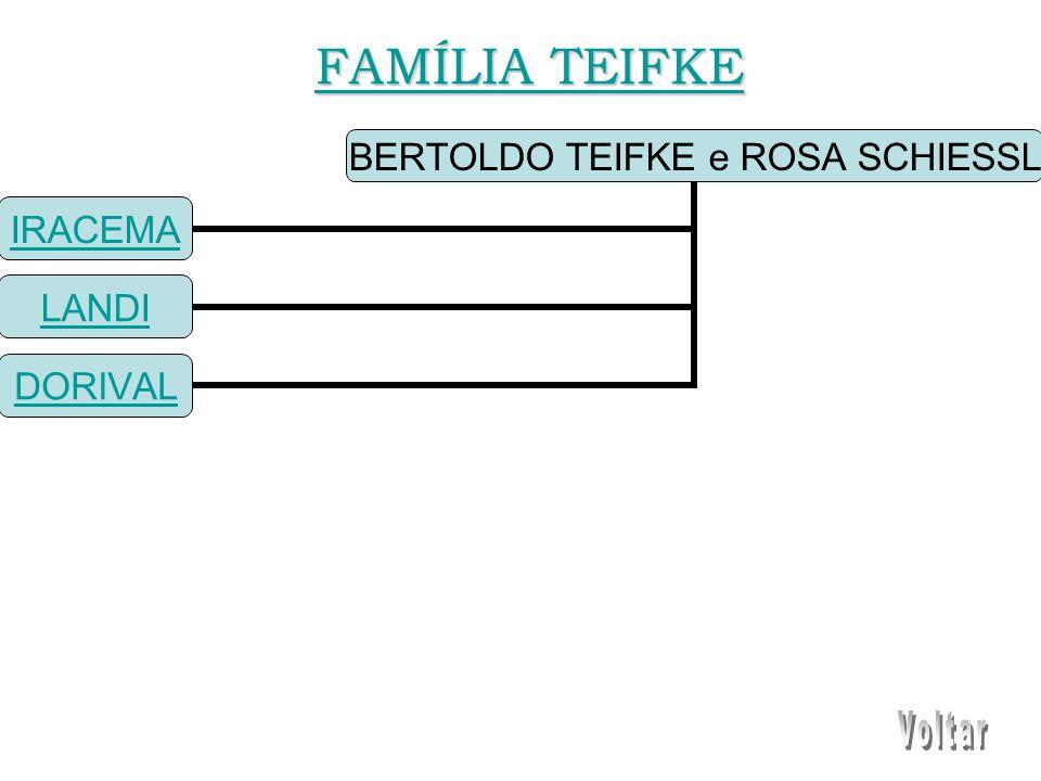 BERTOLDO TEIFKE e ROSA SCHIESSL IRACEMA LANDI DORIVAL FAMÍLIA TEIFKE FAMÍLIA TEIFKE