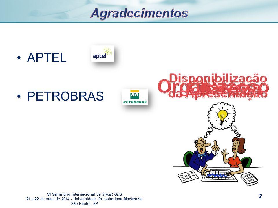 VI Seminário Internacional de Smart Grid 21 e 22 de maio de 2014 - Universidade Presbiteriana Mackenzie São Paulo - SP s Todas informações disponibilizadas nesta apresentação foram obtidas de mídias públicas.