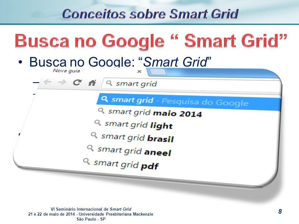 VI Seminário Internacional de Smart Grid 21 e 22 de maio de 2014 - Universidade Presbiteriana Mackenzie São Paulo - SP s Busca no Google: celular – –Dois primeiros websites que aparecem.