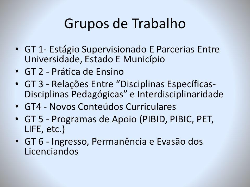 PROBLEMÁTICAS NA FORMAÇÃO DE FORMADORES DE PROFESSORES confirma-se a premência de se constituir um projeto institucional para a formação de professores das licenciaturas da UFMS.
