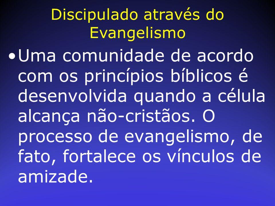 Uma comunidade de acordo com os princípios bíblicos é desenvolvida quando a célula alcança não-cristãos. O processo de evangelismo, de fato, fortalece