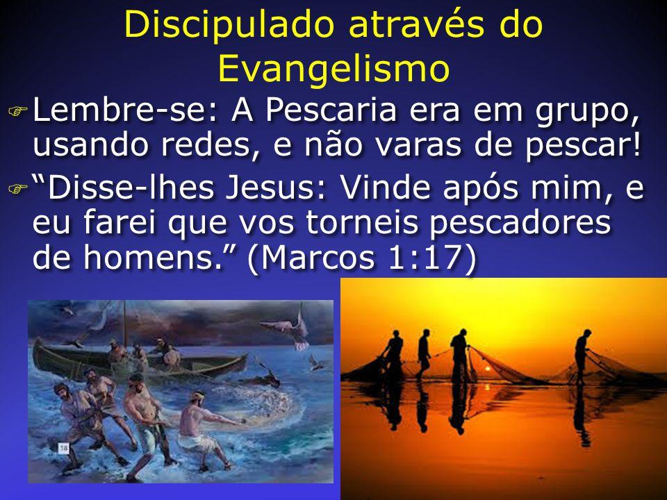 """F Lembre-se: A Pescaria era em grupo, usando redes, e não varas de pescar! F """"Disse-lhes Jesus: Vinde após mim, e eu farei que vos torneis pescadores"""